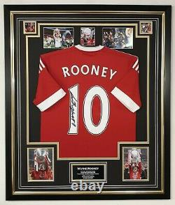 Wayne Rooney of Manchester United Signed Shirt Autographed Jersey Display AFTAL