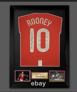 Wayne Rooney signed 2008 Manchester United framed shirt with CoA real value £175