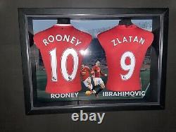 Zlatan Ibrahimovi & Wayne Rooney Signed Manchester united Shirt with COA